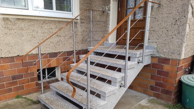 Treppengelaender Edelstahl