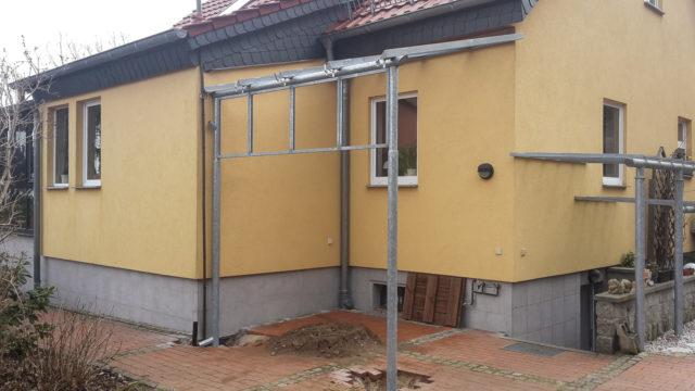 Ueberdachung Kellerabgang mit Glas